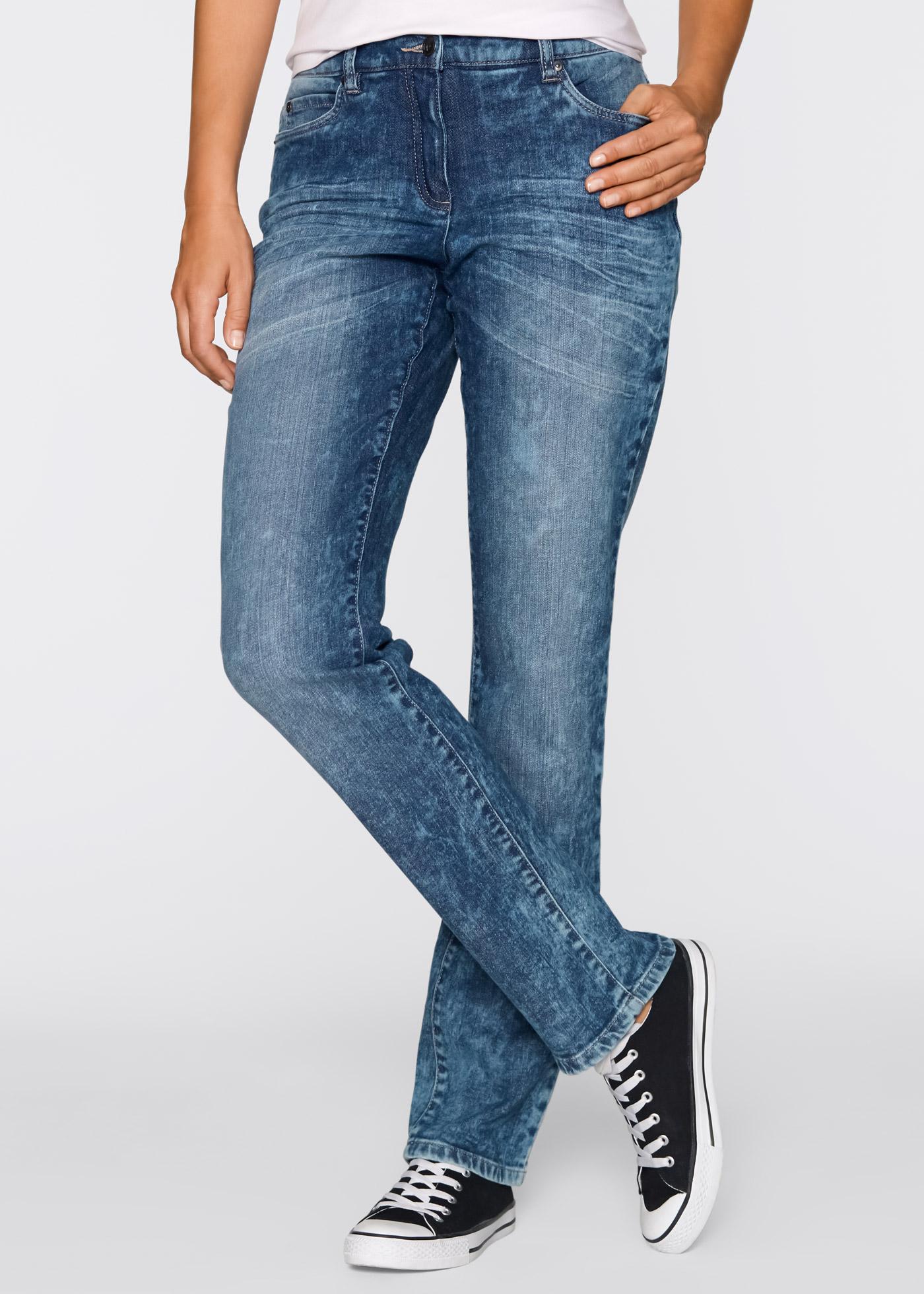 figurformende stretch jeans im used look gr 40 blau. Black Bedroom Furniture Sets. Home Design Ideas