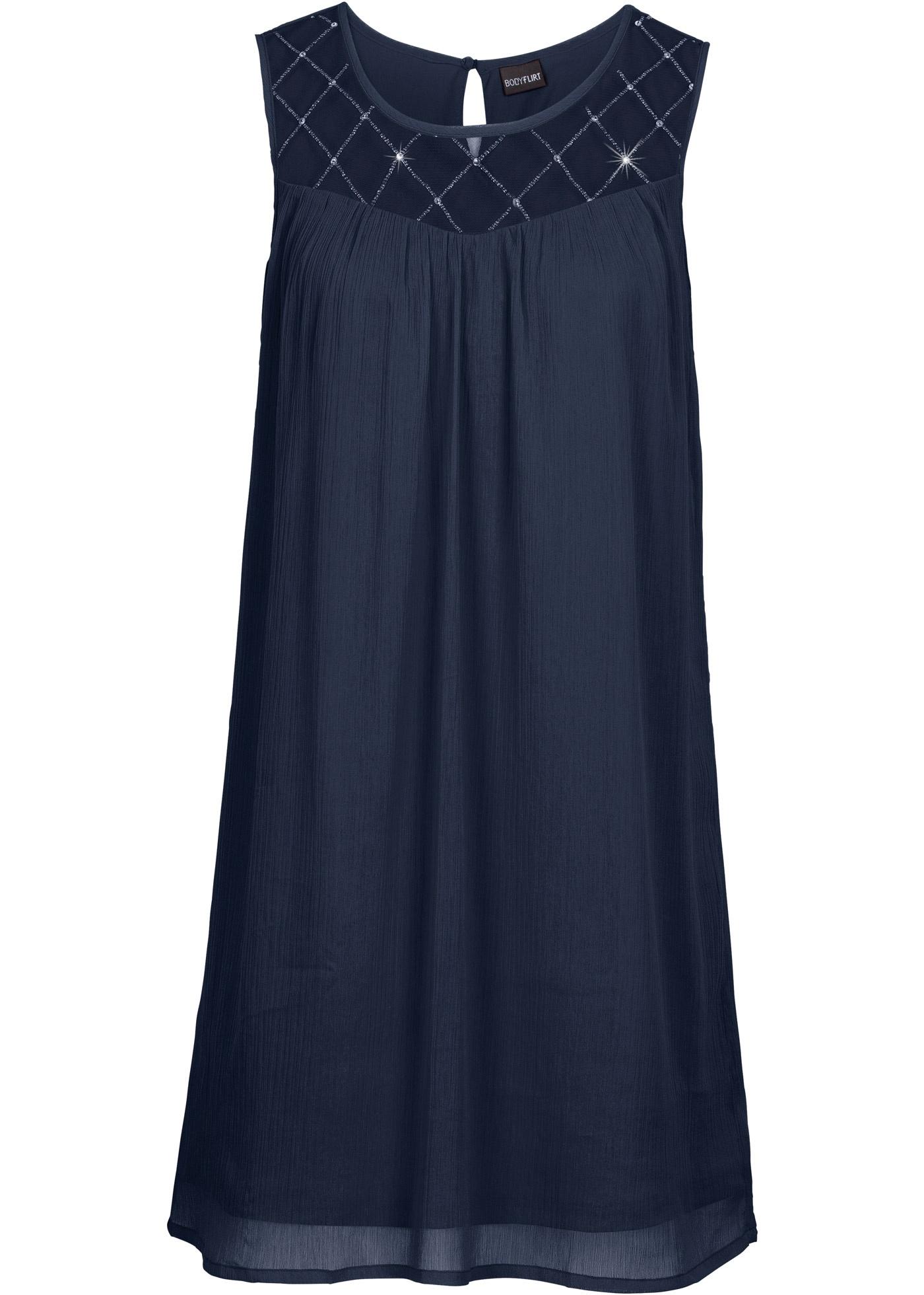 kleid mit perlen gr 48 dunkelblau cocktailkleid mini. Black Bedroom Furniture Sets. Home Design Ideas