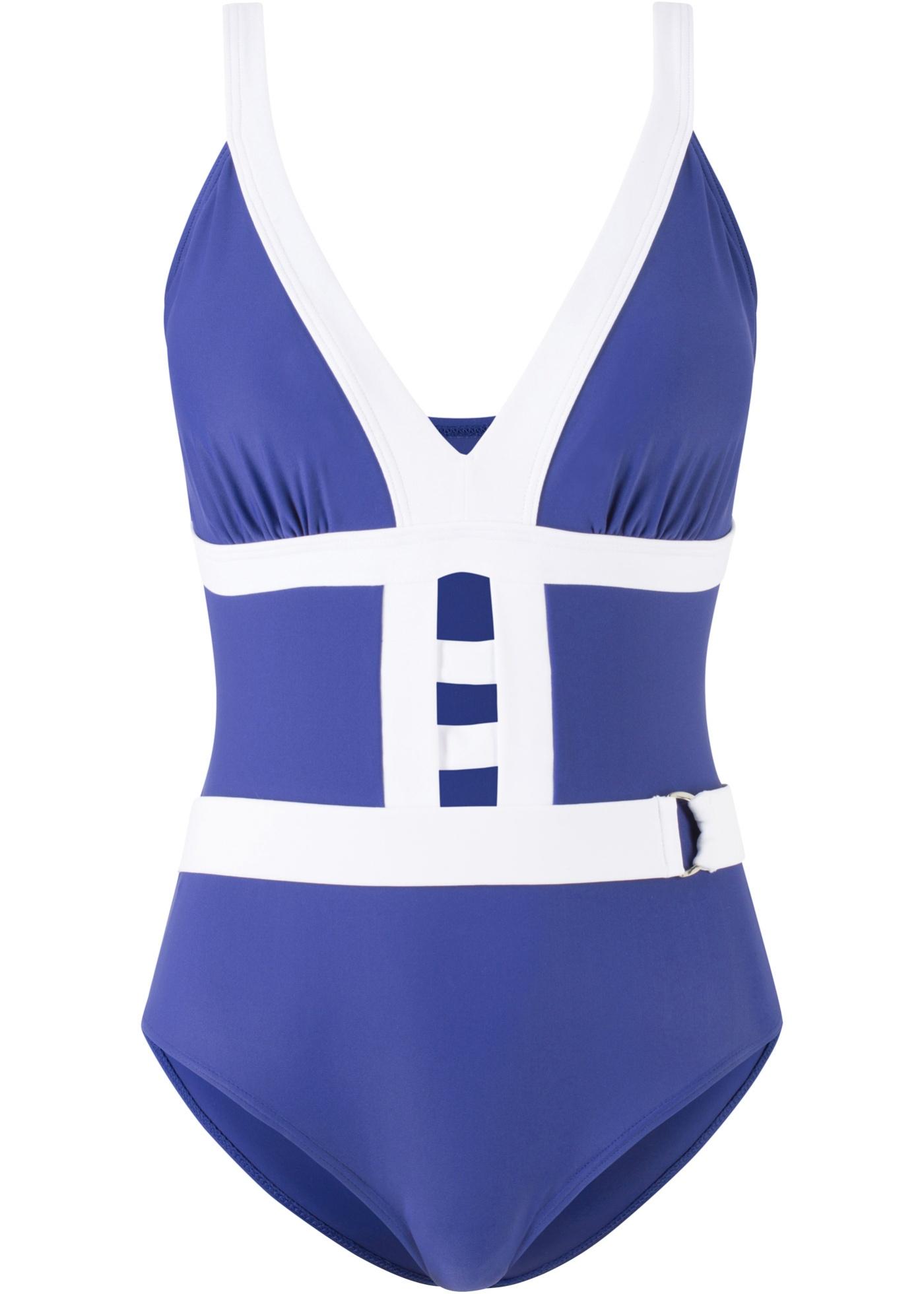 d483efb05b7a63 Badeanzug m Cut-Outs Gr. 38 Blau Weiß Damen Bademode Schwimmanzug ...
