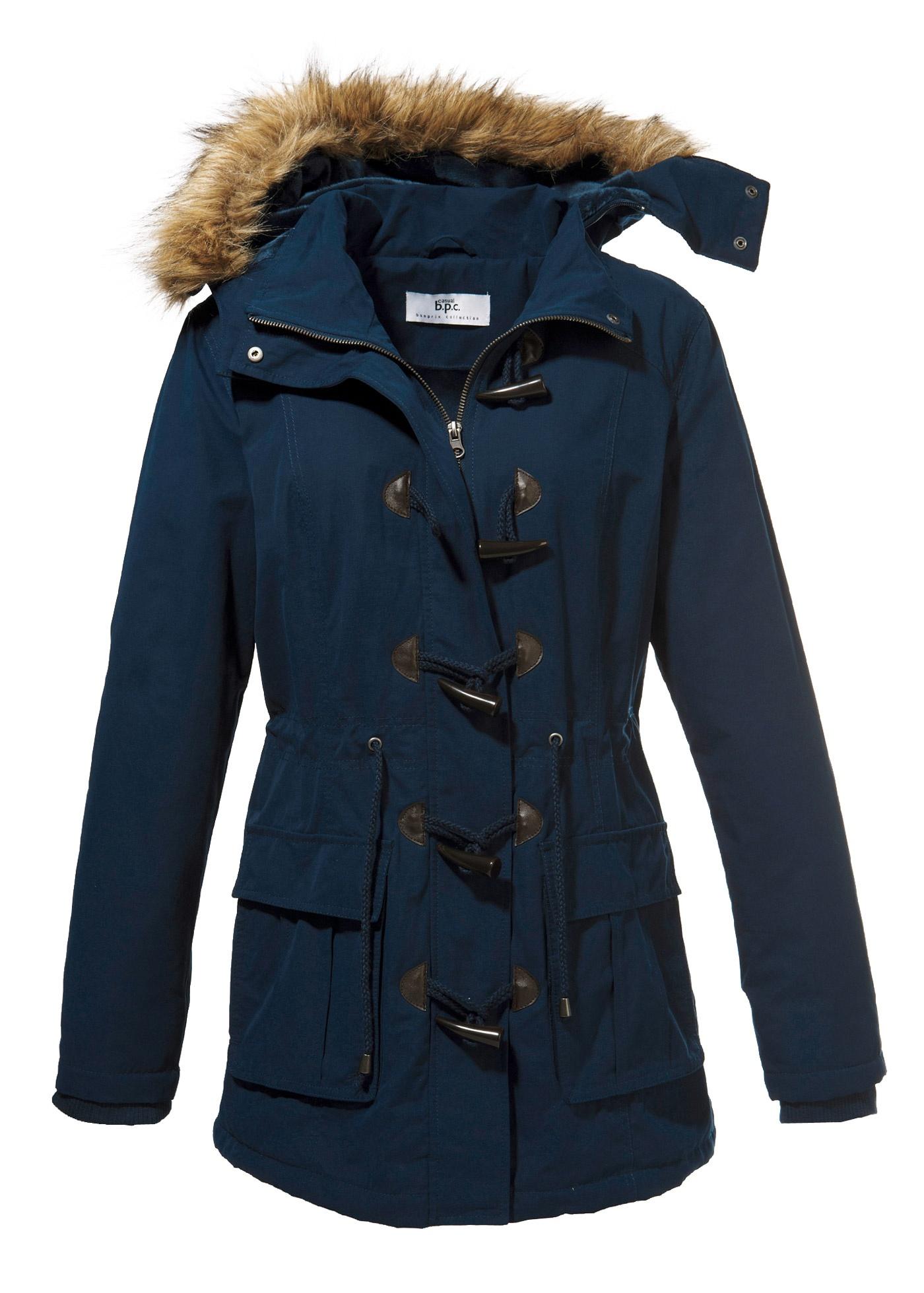bergangsjacke gr 46 blau damen jacke damen parka mantel. Black Bedroom Furniture Sets. Home Design Ideas