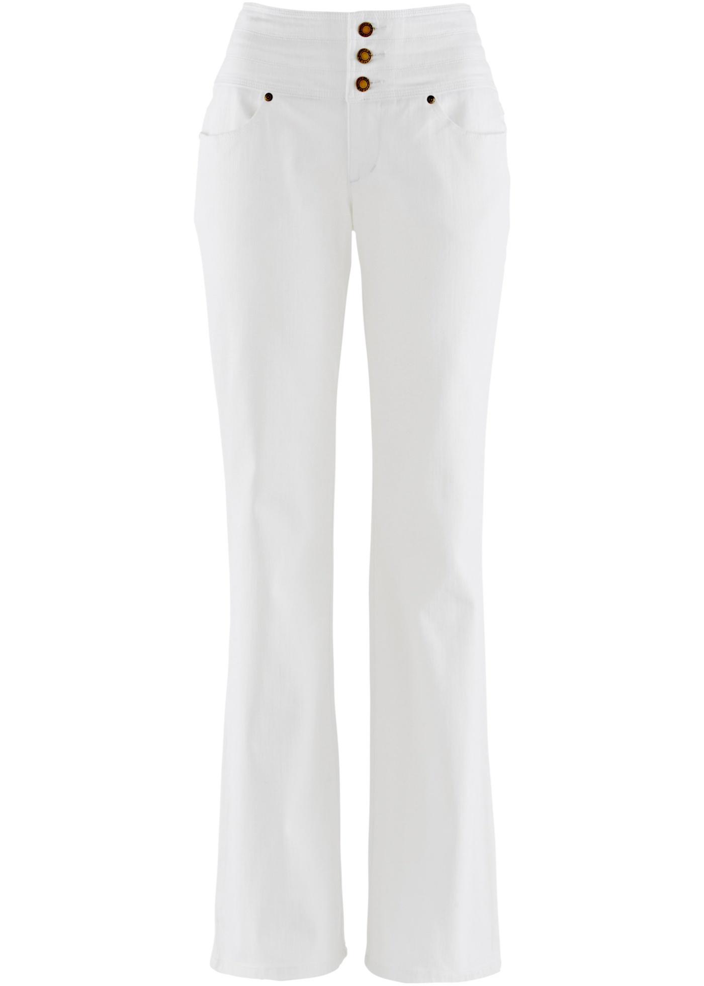 bootcut stretch jeans kurz gr 44 wei damenjeans hose flared leg pants neu ebay. Black Bedroom Furniture Sets. Home Design Ideas