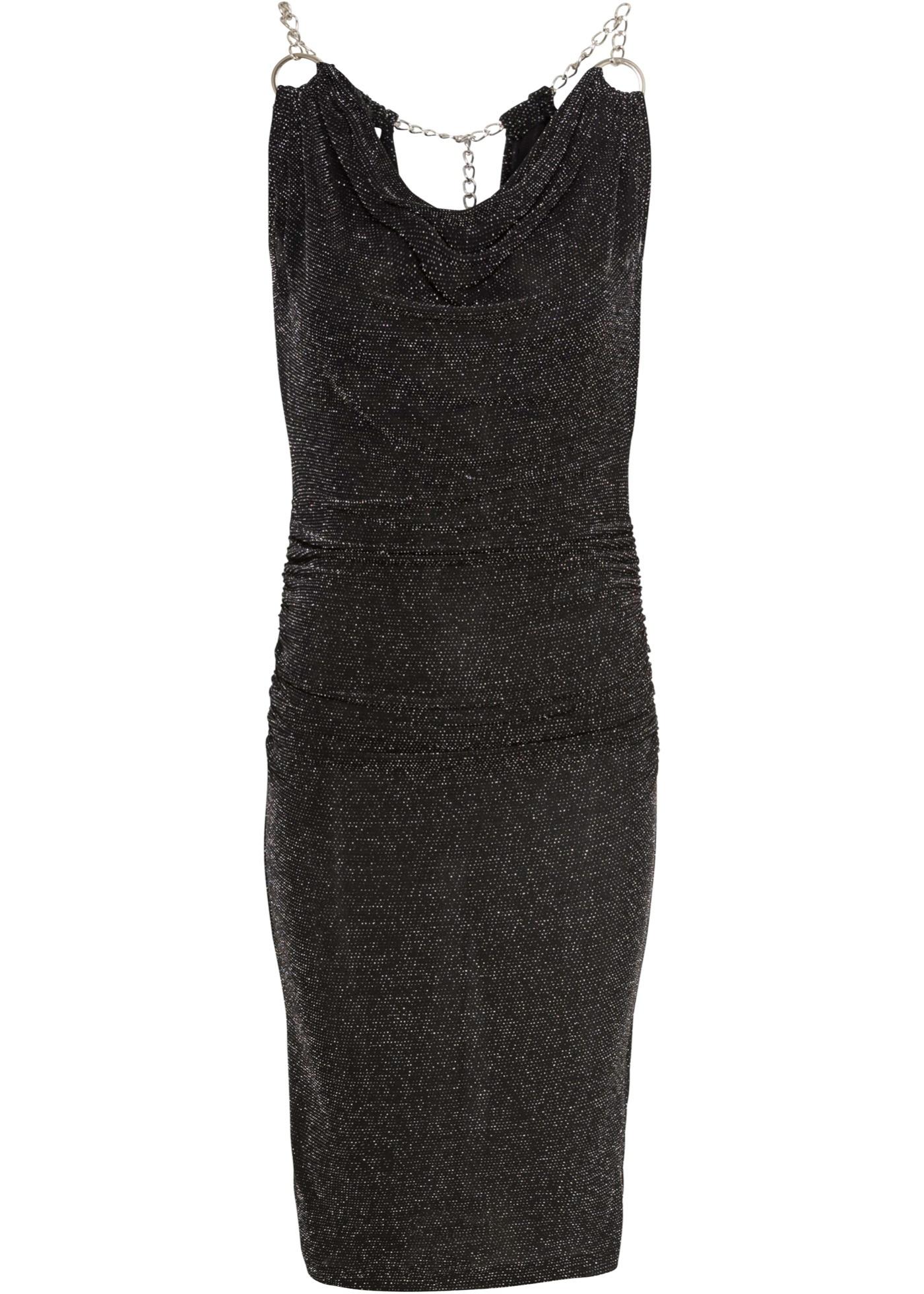 glitzer-kleid gr 48/50 schwarz minikleid partykleid